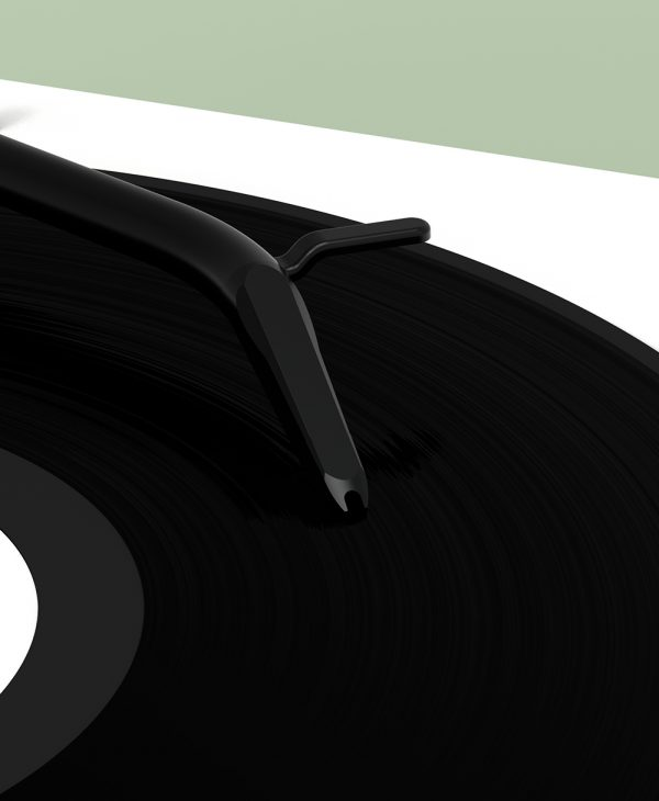 close up of Tone turntable